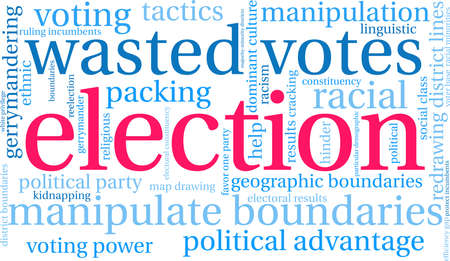 Election word cloud on a white background. 向量圖像