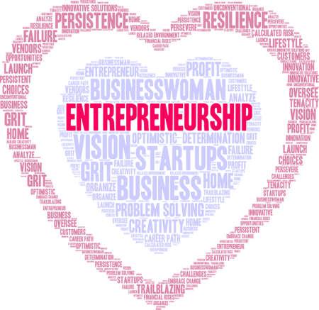 Entrepreneurship word cloud on a white background. Stockfoto - 115366954