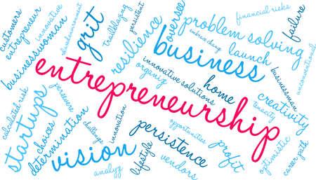 Entrepreneurship word cloud on a white background. Foto de archivo - 115366968