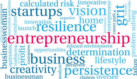 Entrepreneurship word cloud on a white background. Stockfoto - 115367029