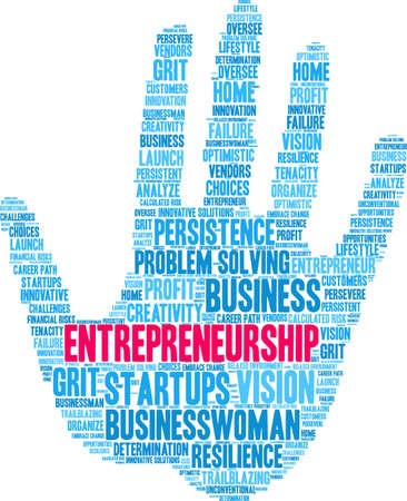 Entrepreneurship word cloud on a white background. Foto de archivo - 115367053