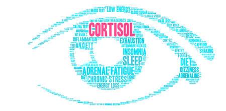 Cortisol word cloud on a white background. Foto de archivo - 118463763