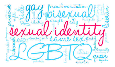 Sexual Identity word cloud on a white background. Illustration