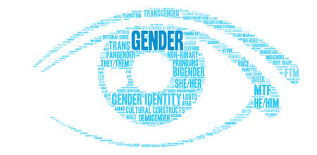 Gender word cloud on a white background. Vecteurs