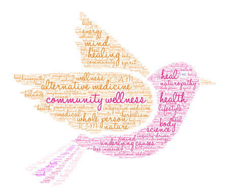 Community Wellness word cloud on a white background. Archivio Fotografico - 118463927