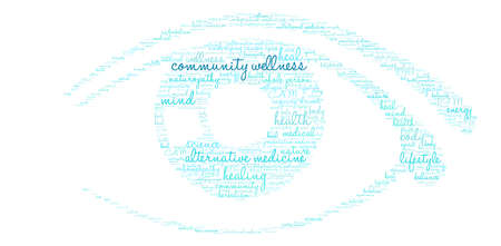 Community Wellness word cloud on a white background.