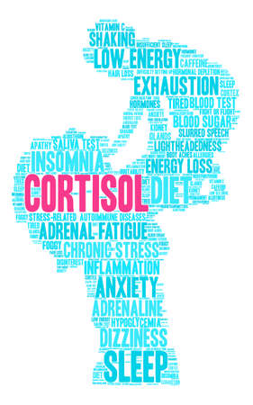 Cortisol word cloud on a white background. Foto de archivo - 118534116