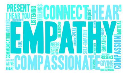 Empathie-Wortwolke auf weißem Hintergrund. Vektorgrafik