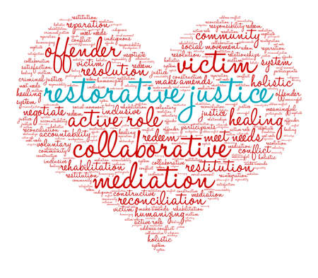 Restorative Justice word cloud on a white background. Archivio Fotografico - 119103286