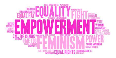 Empowerment word cloud on a white background. Ilustração