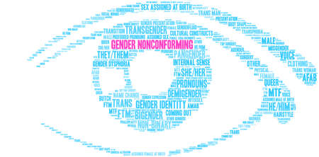 Gender Nonconforming word cloud on a white background.