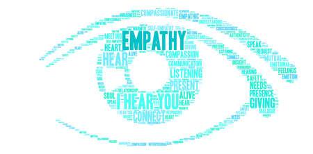Nube de palabras de empatía sobre un fondo blanco. Ilustración de vector