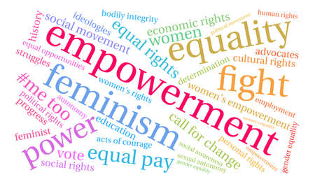 Empowerment word cloud on a white background. Ilustração
