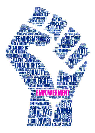 Empowerment word cloud on a white background. Illustration