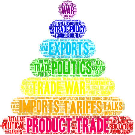 Product Trade word cloud on a white background.  Illusztráció