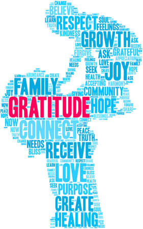 Gratitude word cloud on a white background. Stock fotó - 122590294