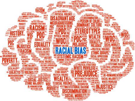 Racial Bias word cloud on a white background. Foto de archivo - 122590436