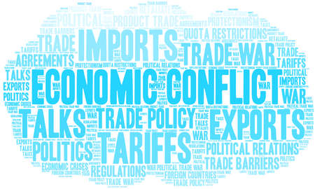 Economic Conflict word cloud on a white background.