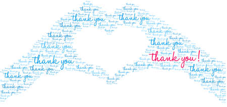 Thank You word cloud on a white background. Vetores