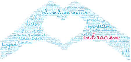 End Racism word cloud on a white background. Archivio Fotografico - 122590665