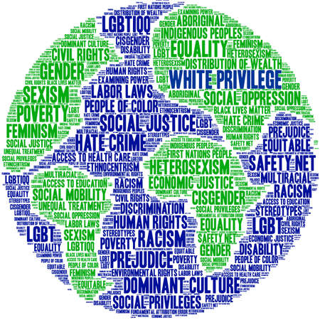 White Privilege word cloud on a white background.   イラスト・ベクター素材