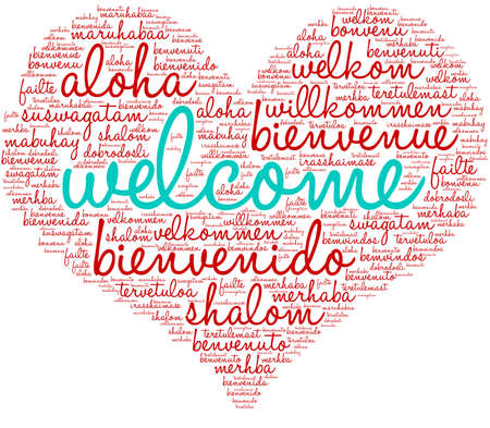 International Welcome Word Cloud. Each word used in this word cloud is another languages version of the word Welcome. 版權商用圖片 - 122594823