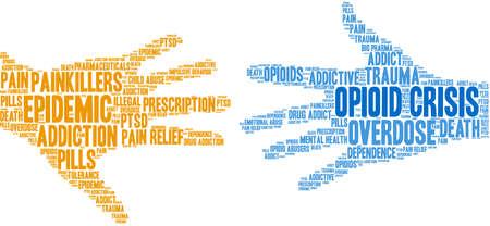 Opioid Crisis word cloud on a white background. Фото со стока - 122594868