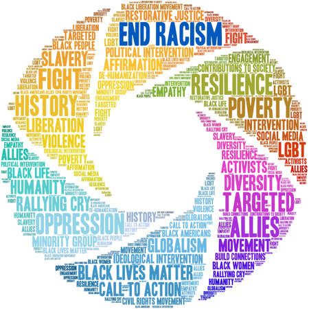 End Racism word cloud on a white background. Archivio Fotografico - 122594926
