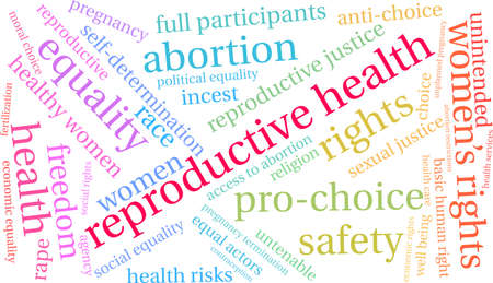 Reproductive Health word cloud on a white background. Ilustração