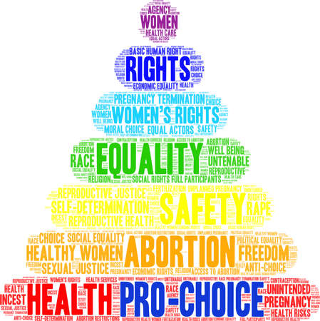 Pro-Choice word cloud on a white background. Illustration