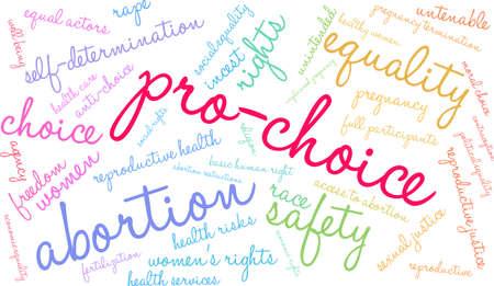 Pro-Choice word cloud on a white background. Ilustração