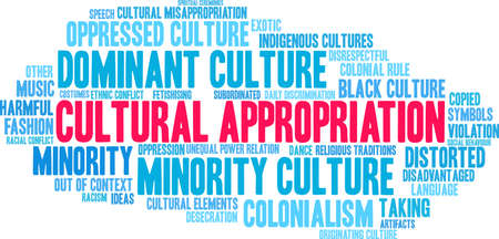 Cultural Appropriation word cloud on a white background.