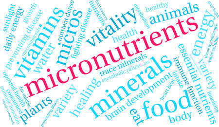Micronutrients word cloud on a white background. 免版税图像 - 130533549
