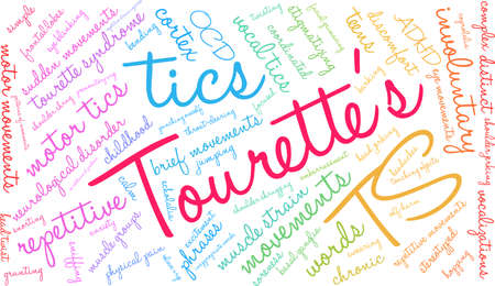 Tourettes word cloud on a white background. 版權商用圖片 - 130533656