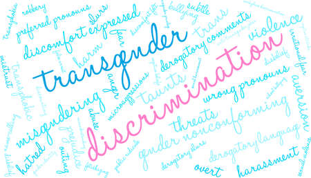 Discrimination word cloud on a white background.  Illustration