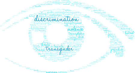 Discrimination word cloud on a white background. Vectores