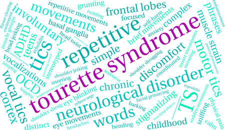 Tourette Syndrome word cloud on a white background.