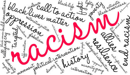 Racism word cloud on a white background. Archivio Fotografico - 130534303