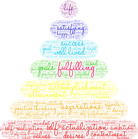 Fulfilling word cloud on a white background. Иллюстрация