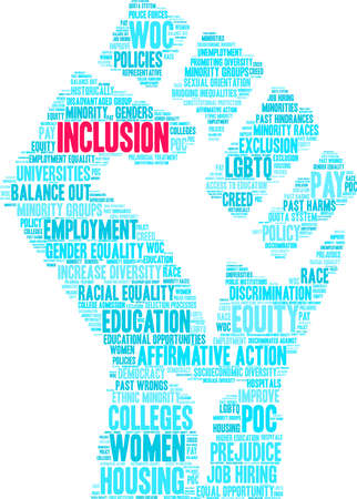 Inclusion word cloud on a white background. Imagens - 130534429