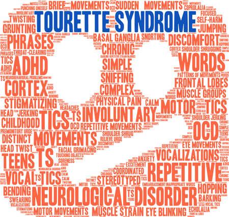 Tourette Syndrome word cloud on a white background. Illusztráció