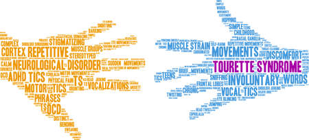Tourette Syndrome word cloud on a white background. Illustration