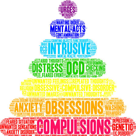 Compulsions word cloud on a white background.