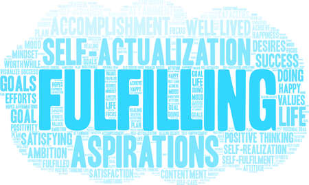 Fulfilling word cloud on a white background. Vectores