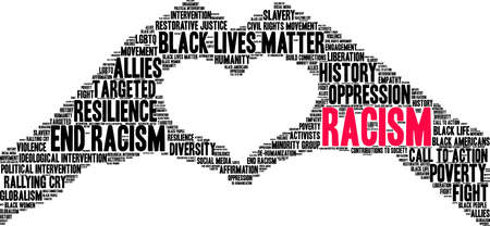 Racism word cloud on a white background. Archivio Fotografico - 130534504