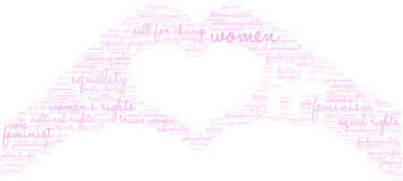 Womens Rights Fight word cloud on a black background.