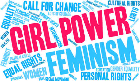 Girl Power word cloud on a white background.