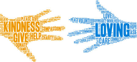Loving word cloud on a white background. Vetores