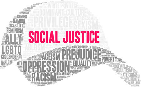 Social Justice word cloud on a white background. 版權商用圖片 - 130731409