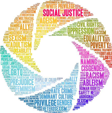Social Justice word cloud on a white background. 版權商用圖片 - 130731404